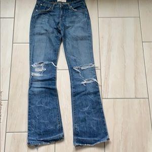 Paper denim & cloth flare leg distressed jeans 26